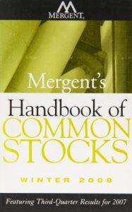 Baixar Mergent's handbook of common stocks winter 2008 pdf, epub, eBook