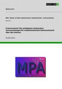 Baixar E-government: die wichtigsten technischen pdf, epub, ebook