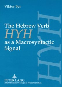 Baixar Hebrew verb hyh as a macrosyntactic signal pdf, epub, ebook
