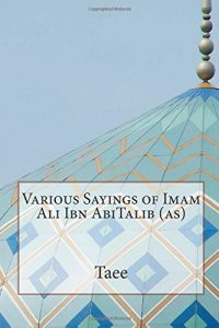 Baixar Various sayings of imam ali ibn abitalib pdf, epub, eBook