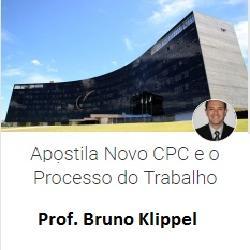 Baixar Apostila Novo CPC e o Processo do Trabalho: IN nº 39 e 40/16 do TST – Prof. Bruno Klippel pdf, epub, eBook