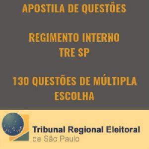 Baixar APOSTILA DE QUESTÕES – REGIMENTO INTERNO TRE-SP pdf, epub, ebook