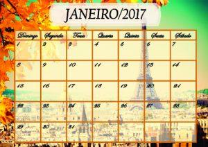 Baixar Calendário Janeiro 2017 pdf, epub, ebook