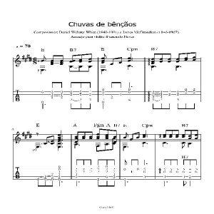 Baixar Chuvas de Bênçãos –  Partitura para violão com tabladura pdf, epub, eBook
