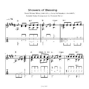 Baixar Shower of Blessing- Music sheet and Tab for Acoustic Guitar – pdf, epub, eBook
