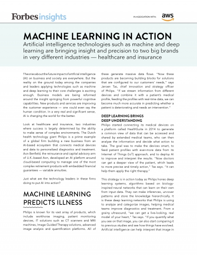 Forbes Insights Machine Learning in Action