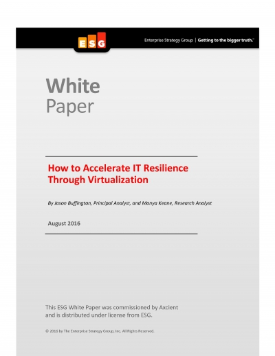 How to Accelerate IT Resilience Through Virtualization