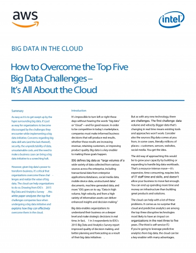 How to Overcome the Top Five Big Data Challenges _ Its All About the Cloud (2018)