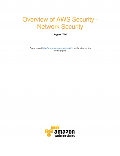 Overview of AWS Security _ Network Security