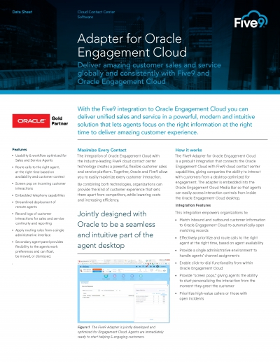 Adapter For Oracle Engagement Cloud