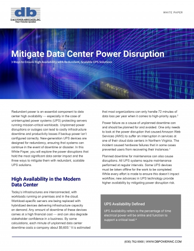 Download Mitigate Data Center Downtime With A Rightsized Ups