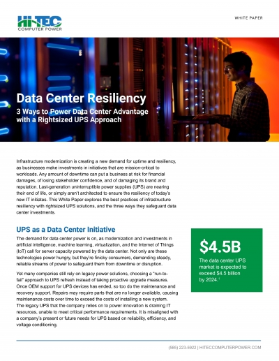 Power Data Center Advantage With A Right-Sized Ups