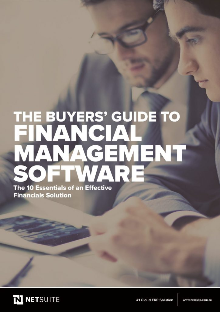 The Buyers' Guide to Financial Management Software