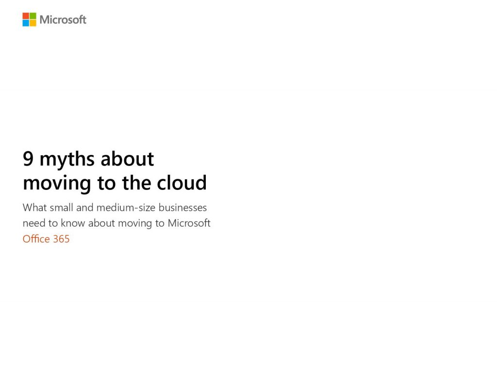 9 Myths of Moving to the Cloud