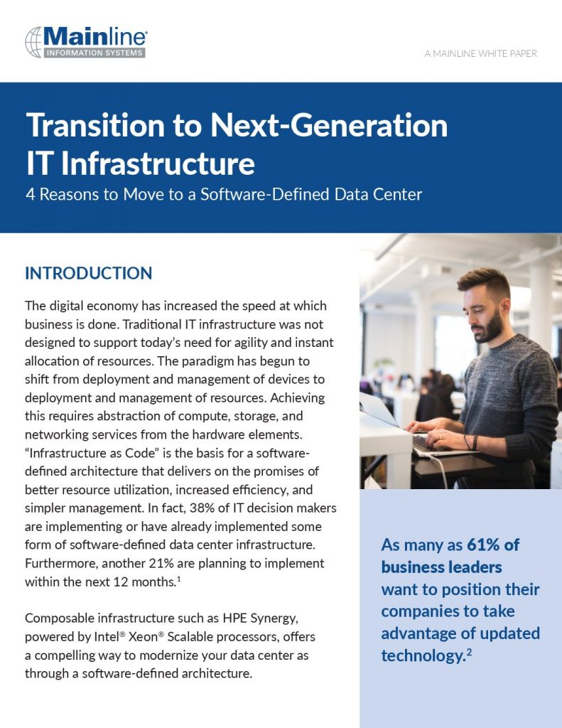 Transition to Next-Generation IT Infrastructure