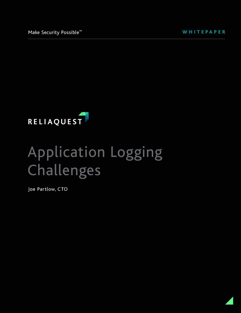 Application Logging Challenges in Cyber Security