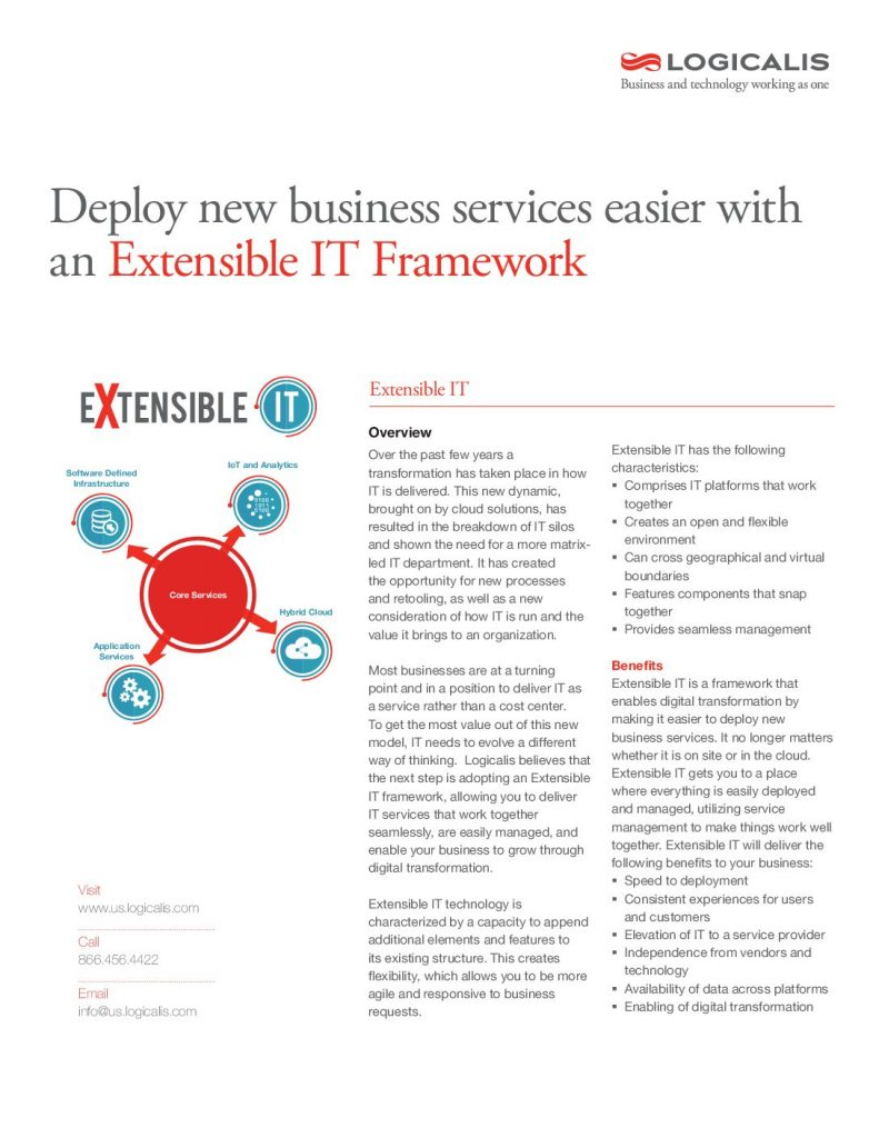 Deploy The New Business Services Easier With An Extensible IT Framework