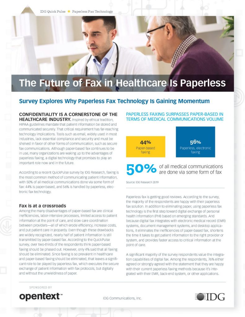 Download The Future Of Fax In Healthcare Is Paperless
