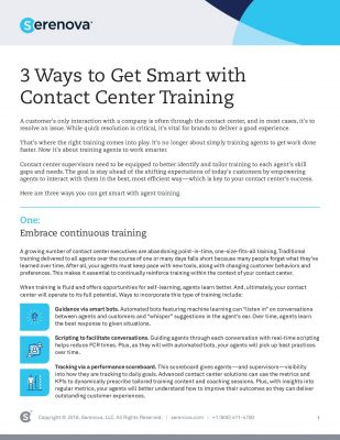 3 Ways to Get Smart with Contact Center Training