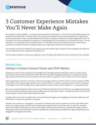 3 Customer Experience Mistakes You'll Never Make Again
