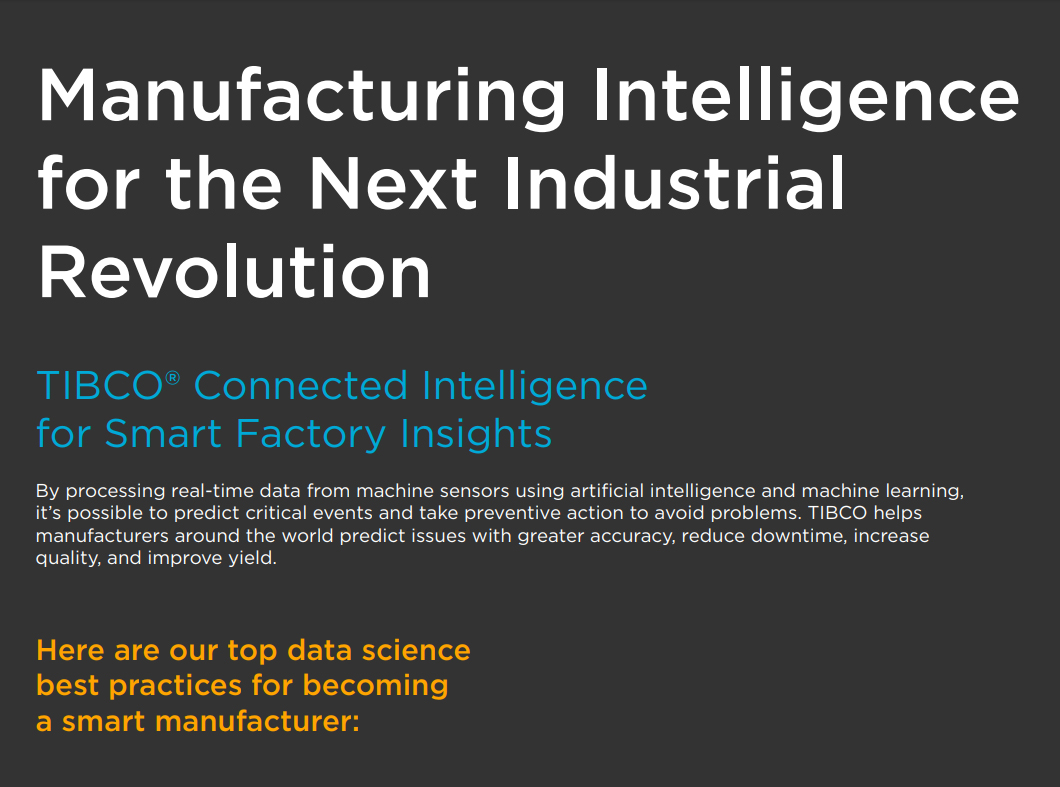 Manufacturing Intelligence for the Next Industrial Revolution (Infographic)