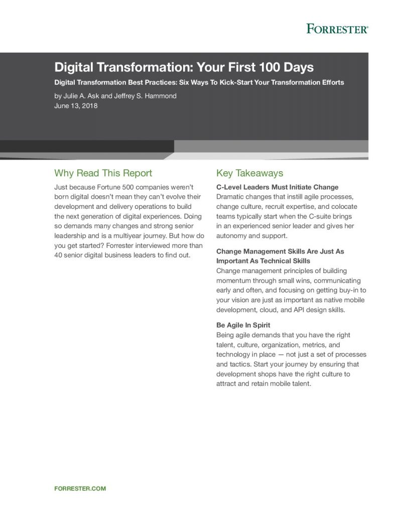 Download Forrester-Digital Transformation Your First 100