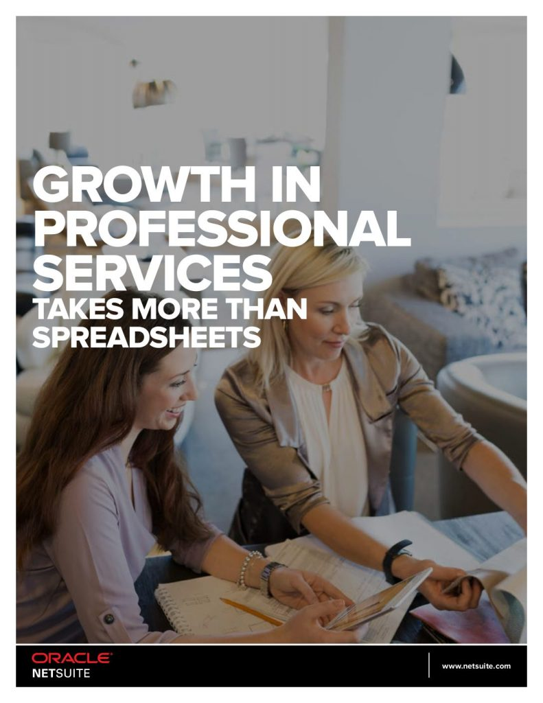 Growth in the Professional Services Takes More Than Spreadsheets