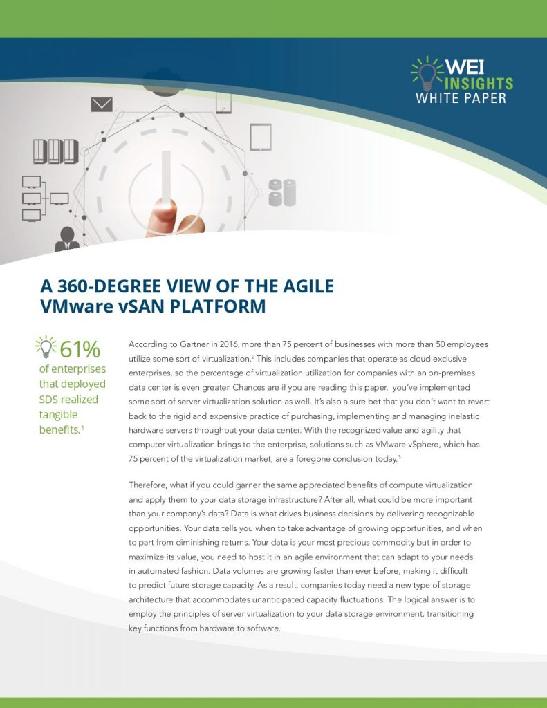 A 360-Degree View of the Agile VMware vSAN Platform