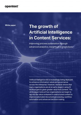 Growth of AI with Content Services