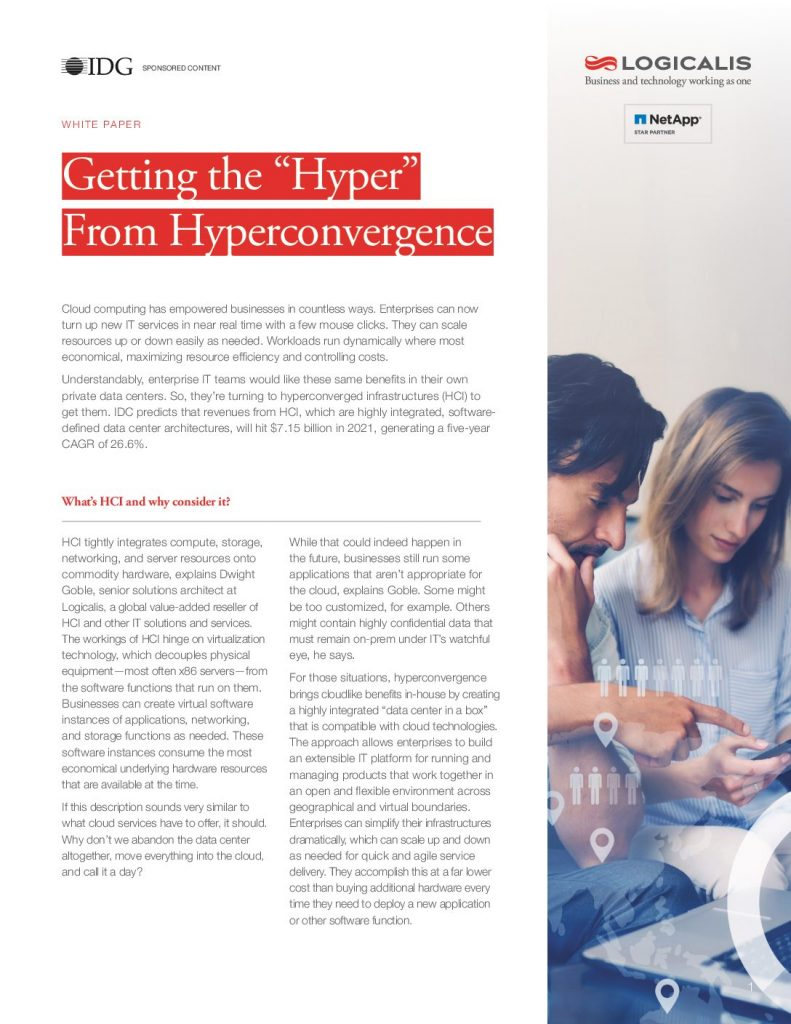 "Getting The ""Hyper"" From theHyperconvergence"