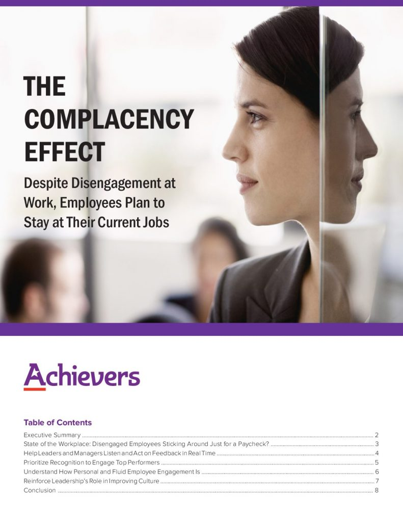 2019 Employee Engagement Report: The Complacency Effect