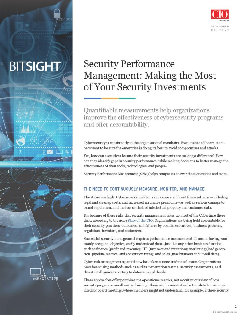 Security Performance Management: Making the Most of Your Security Investments