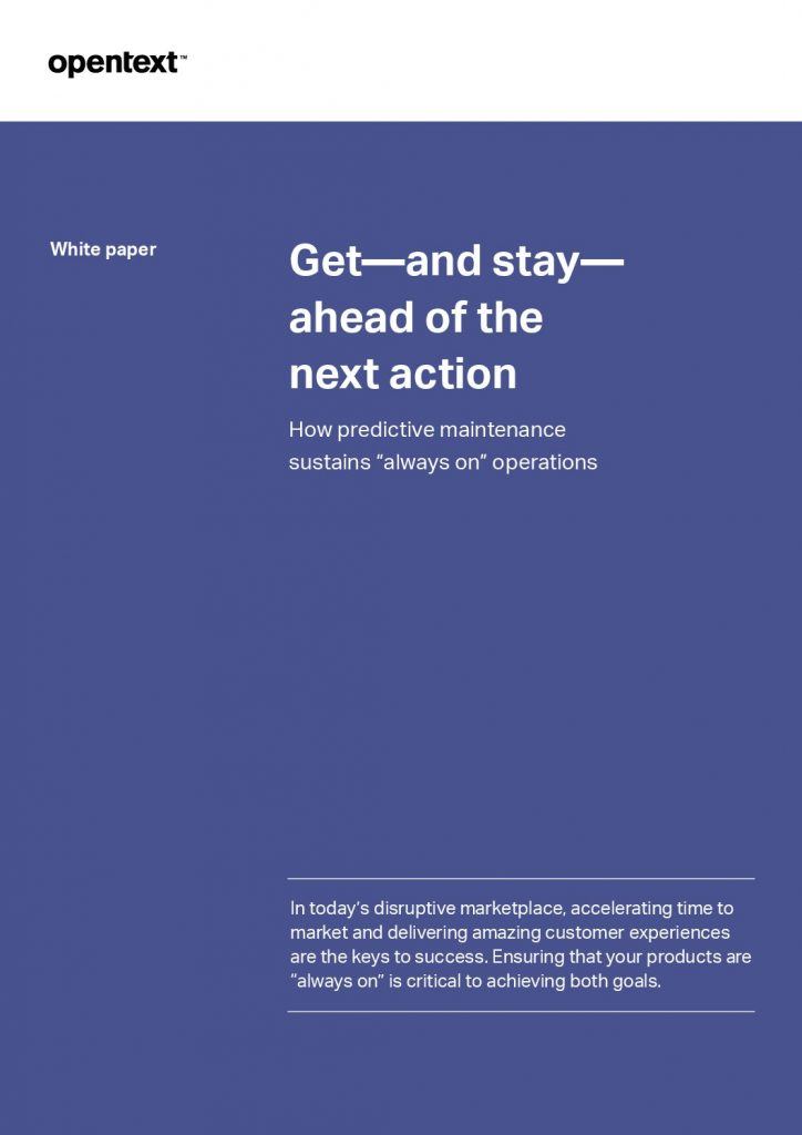 Get Ahead, Stay Ahead: How Predictive Maintenance Sustains Always On Operations