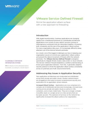 VMware Service-Defined Firewall