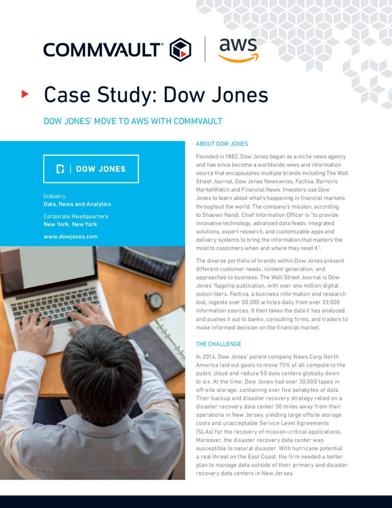 Case Study: Dow Jones Adopts AWS
