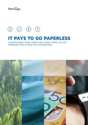 Why it Pays to go Paperless