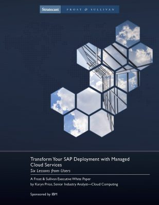 Transform your ERP Deployment with the Managed Cloud Services: Six Lessons From Users