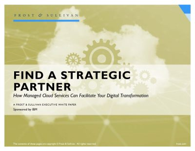 Find a Strategic Partner:  How Managed Cloud Service can Facilitate your Digital Transformation