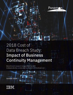 Ponemon Institute 2018 Cost of the Data Breach Study: Impact of Business Continuity Management