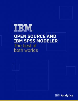 Open Source and IBM SPSS Modeler the best of both worlds