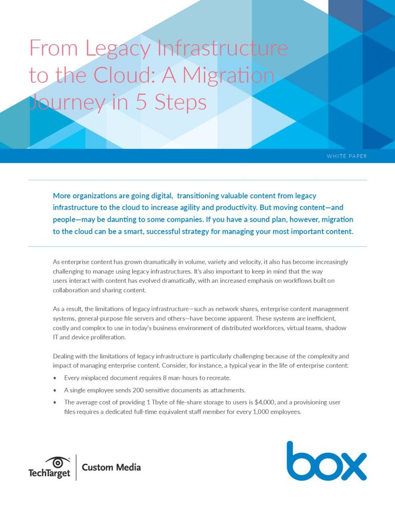 5 Steps To The Cloud
