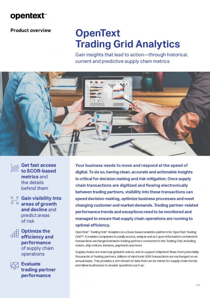 OpenText Trading Grid Analytics