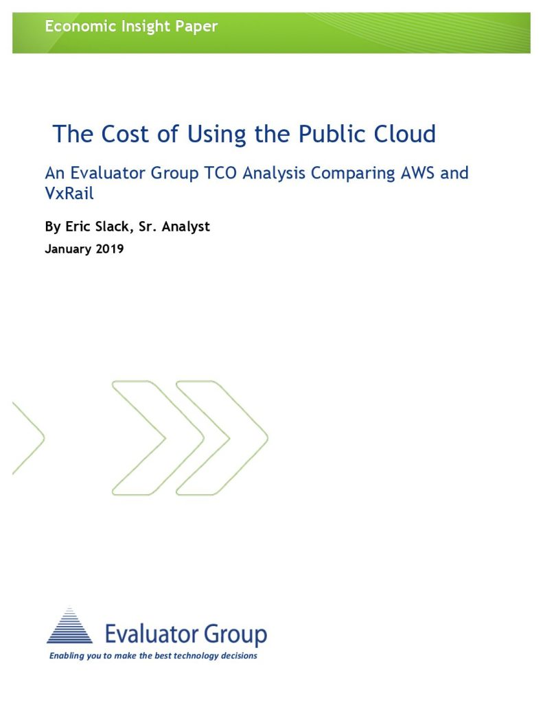 Report: The Cost of Using the Public Cloud