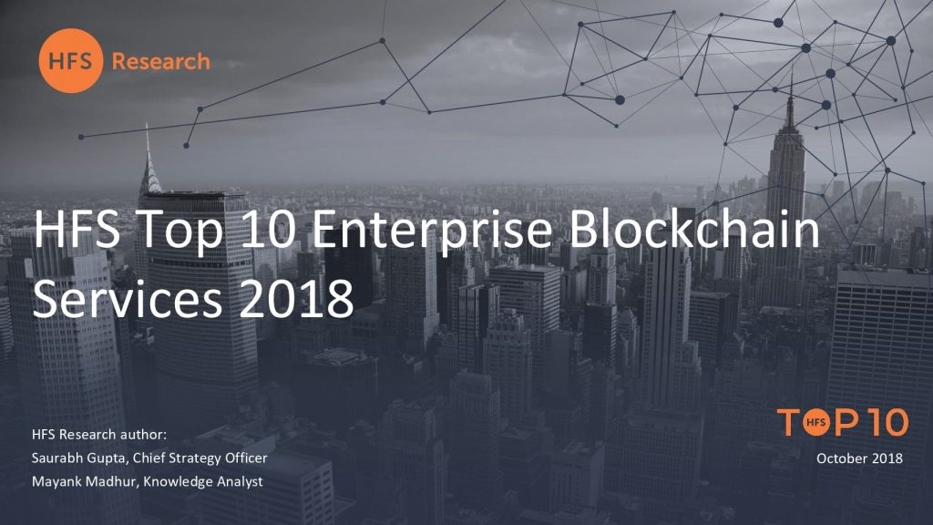 HFS Top 10 Enterprise Blockchain Services 2018