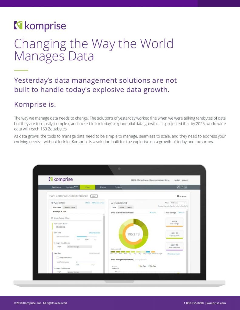 5 Things to Do Before Backup: Changing the Way the World Manages Data