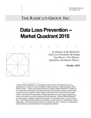 The Radicati Group DLP(Data Loss Prevention) Market Quadrant 2018