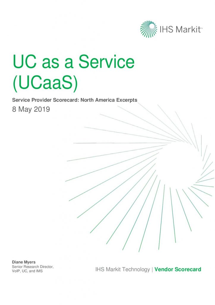 IHS Markit: UC as a Service (UCaaS) Service Provider Scorecard