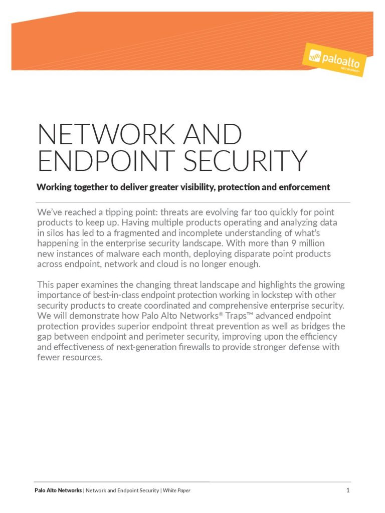 Combine Network and Endpoint Security for Better Visibility, Protection, and Enforcement