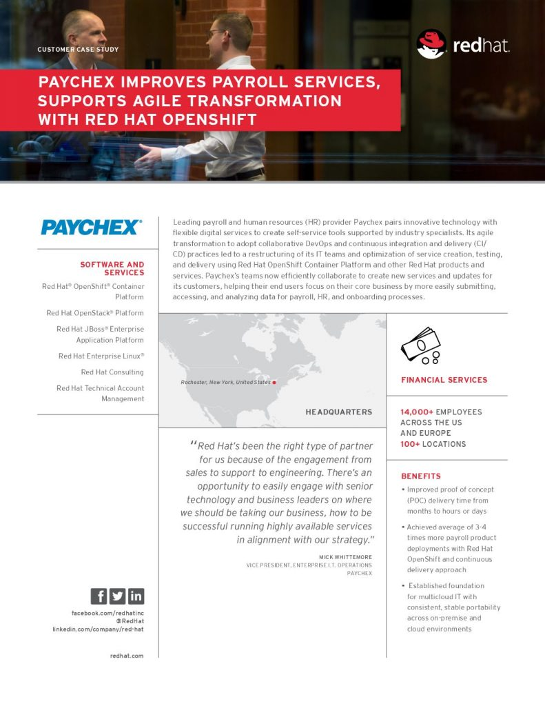 Agile transformation improves customer services for leading payroll provider