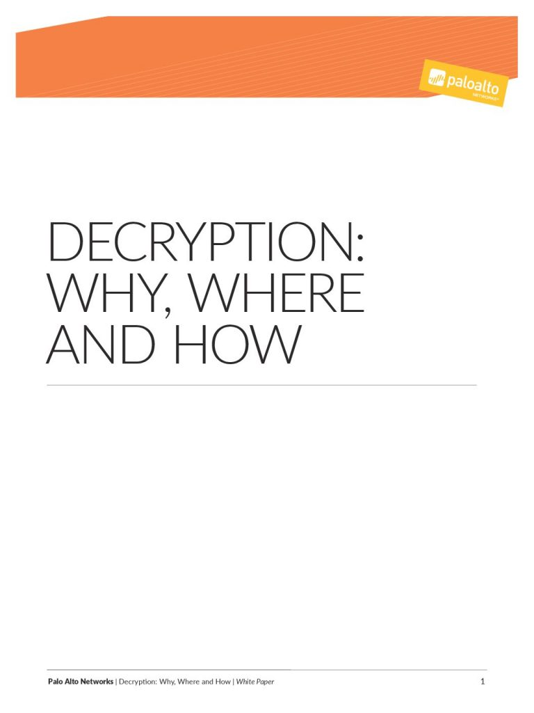 Download Decryption: Why, Where and How Whitepaper